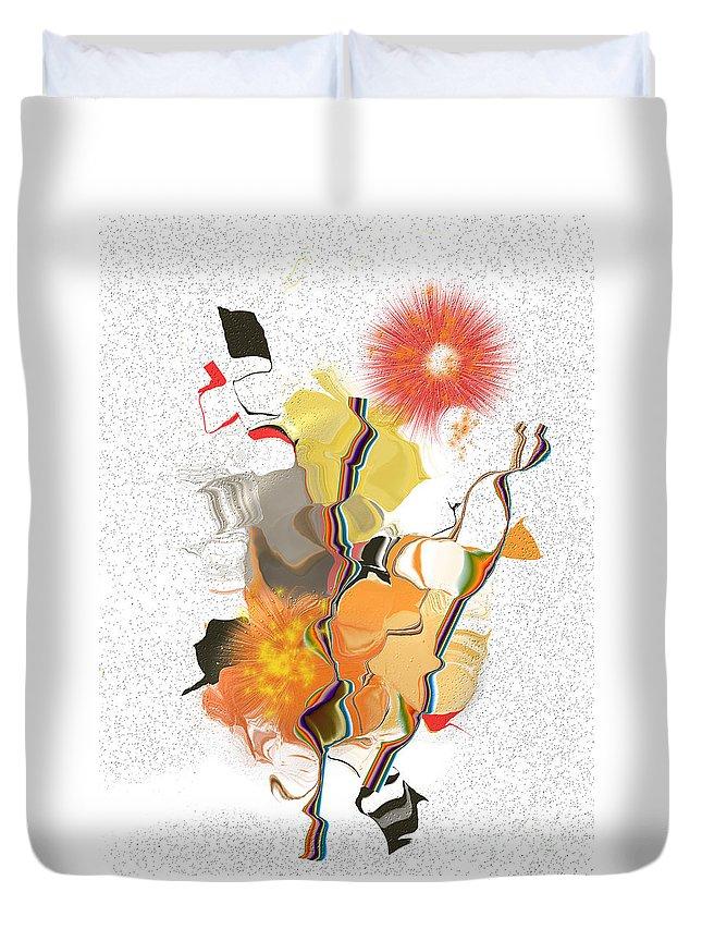 Duvet Cover featuring the digital art No. 550 by John Grieder
