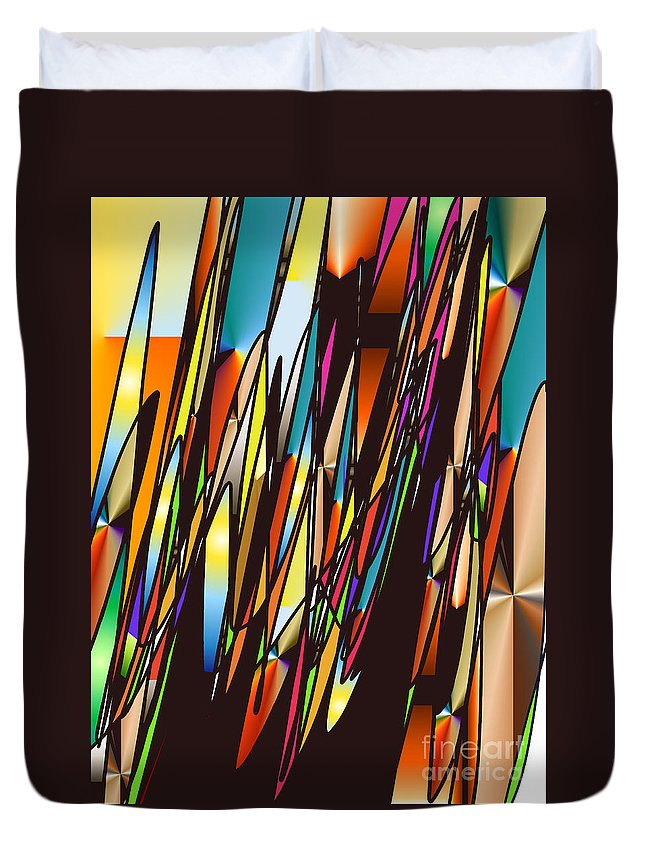 Duvet Cover featuring the digital art No. 551 by John Grieder