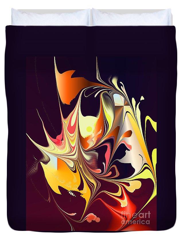 Duvet Cover featuring the digital art No. 553 by John Grieder