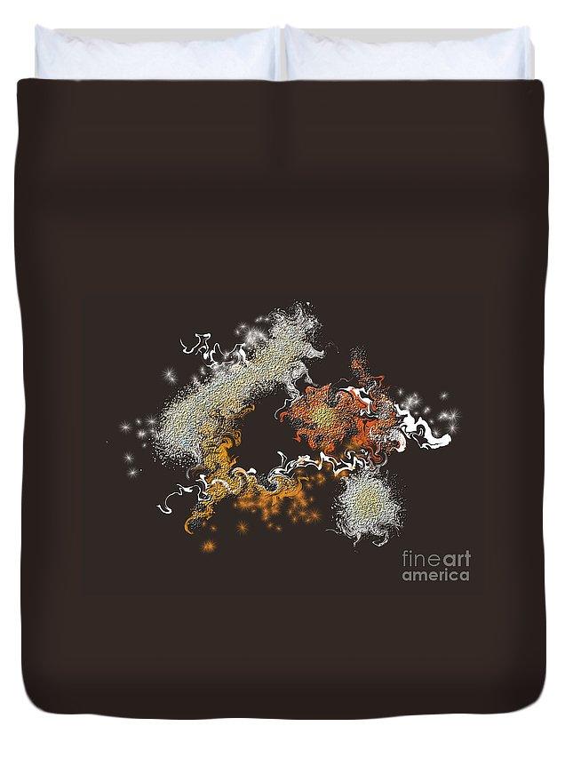 Duvet Cover featuring the digital art No. 559 by John Grieder