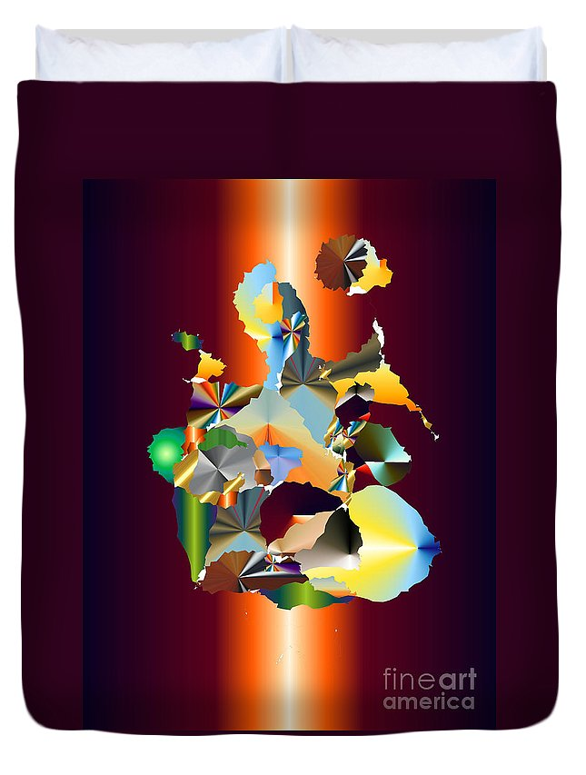 Duvet Cover featuring the digital art No. 573 by John Grieder