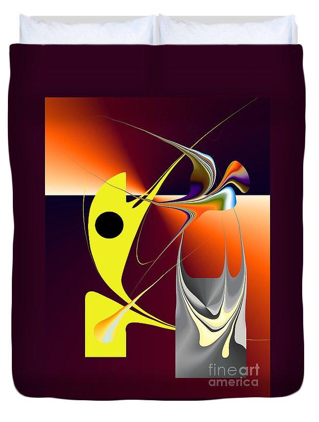 Duvet Cover featuring the digital art No. 726 by John Grieder
