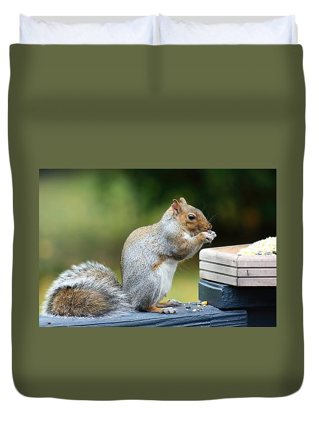 Amanda Stadther Duvet Cover featuring the photograph No Cutlery Needed by Amanda Stadther