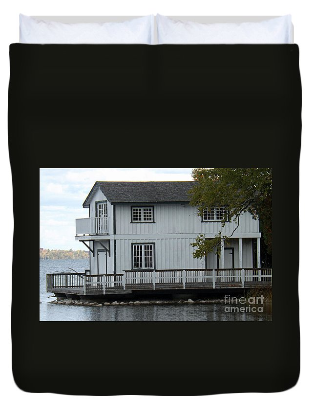 House Duvet Cover featuring the photograph No Yard Work Required by Brenda Brown