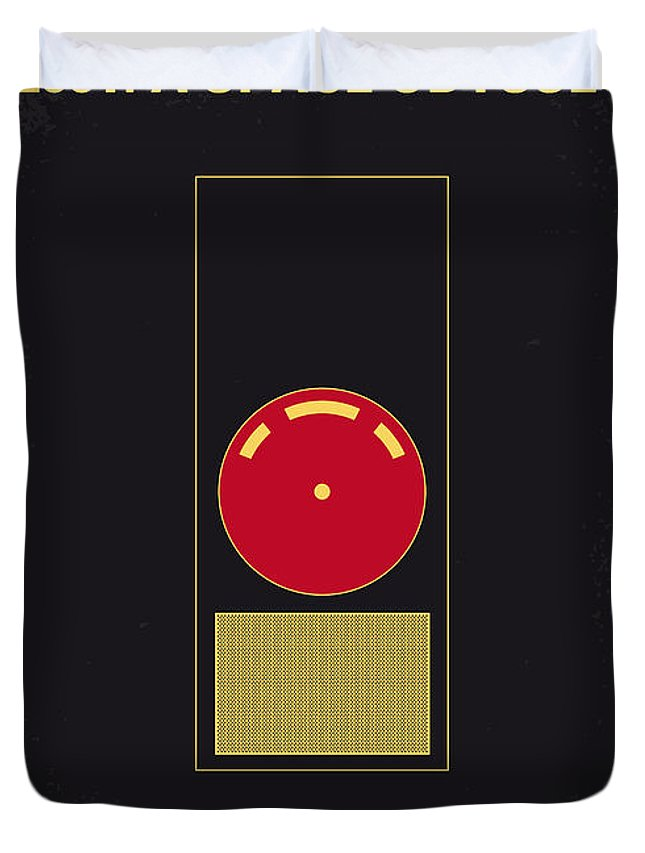 2001: A Space Odyssey Duvet Cover featuring the digital art No003 My 2001 A space odyssey 2000 minimal movie poster by Chungkong Art