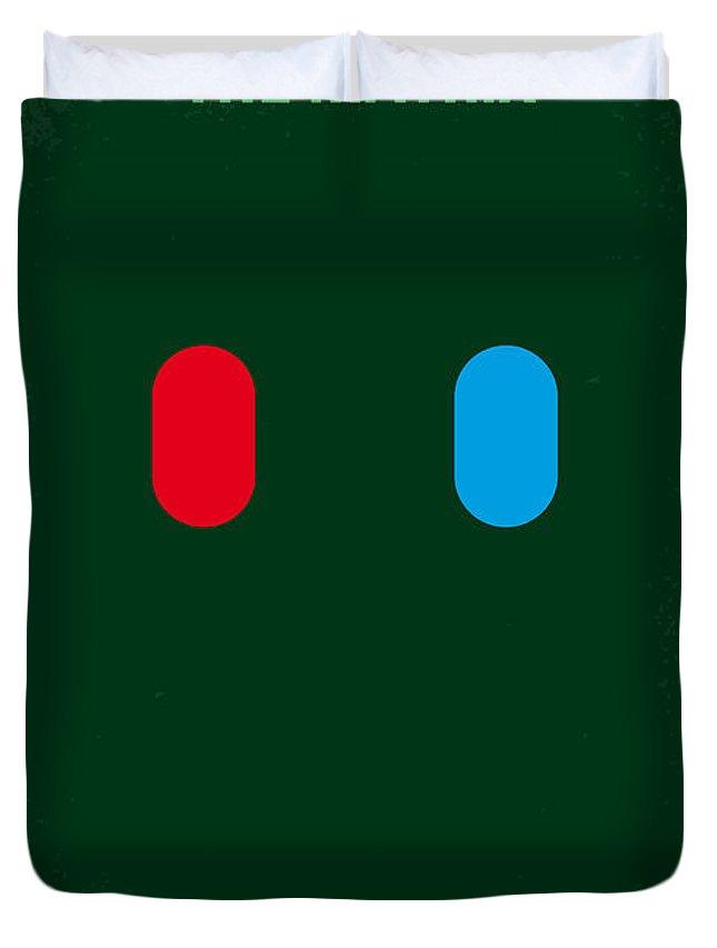 Matrix Duvet Cover featuring the digital art No117 My MATRIX minimal movie poster by Chungkong Art