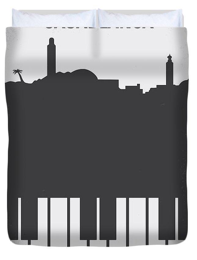 Casablanca Duvet Cover featuring the digital art No192 My Casablanca minimal movie poster by Chungkong Art
