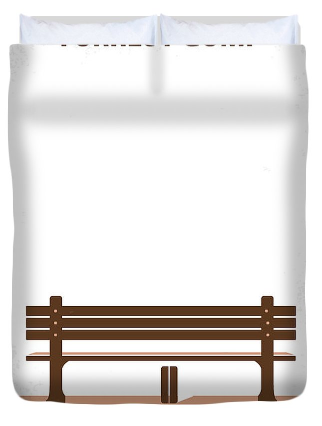 Forrest Duvet Cover featuring the digital art No193 My Forrest Gump minimal movie poster by Chungkong Art