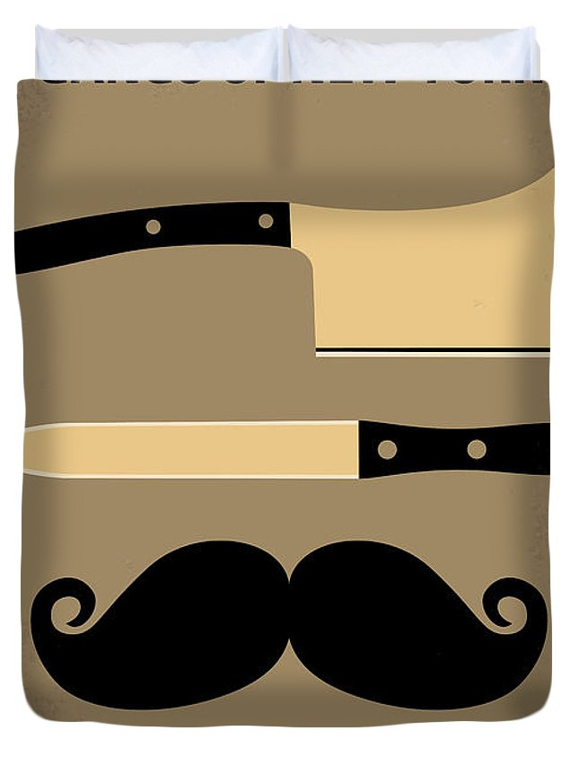 Gangs Duvet Cover featuring the digital art No195 My Gangs Of New York Minimal Movie Poster by Chungkong Art