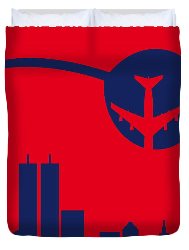 Escape Duvet Cover featuring the digital art No219 My Escape From New York Minimal Movie Poster by Chungkong Art