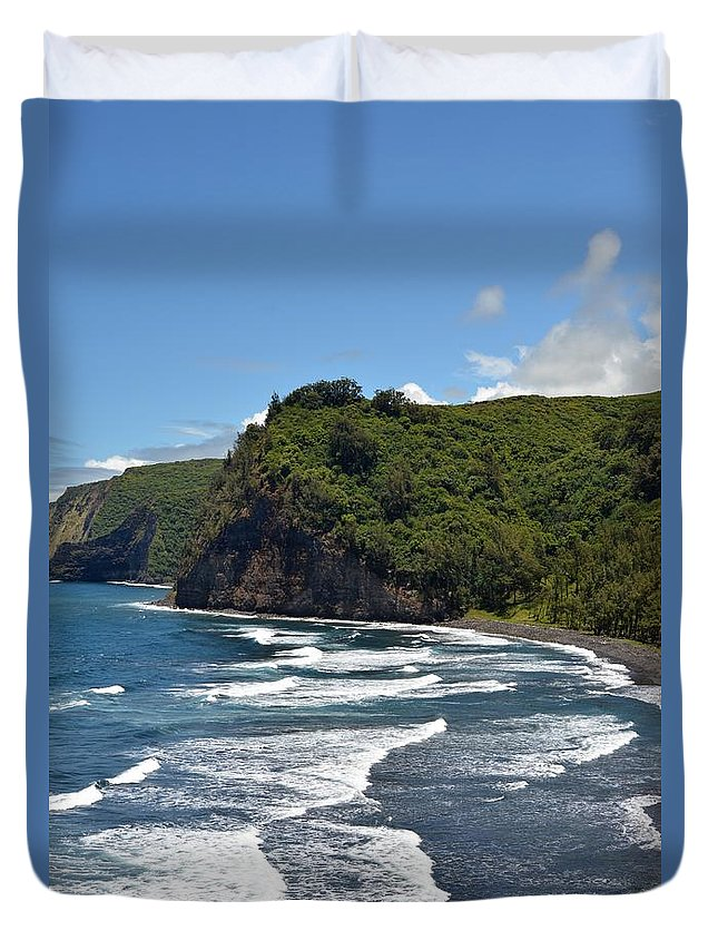 Kona Duvet Cover featuring the photograph North Kona Coast 2 by Amy Fose