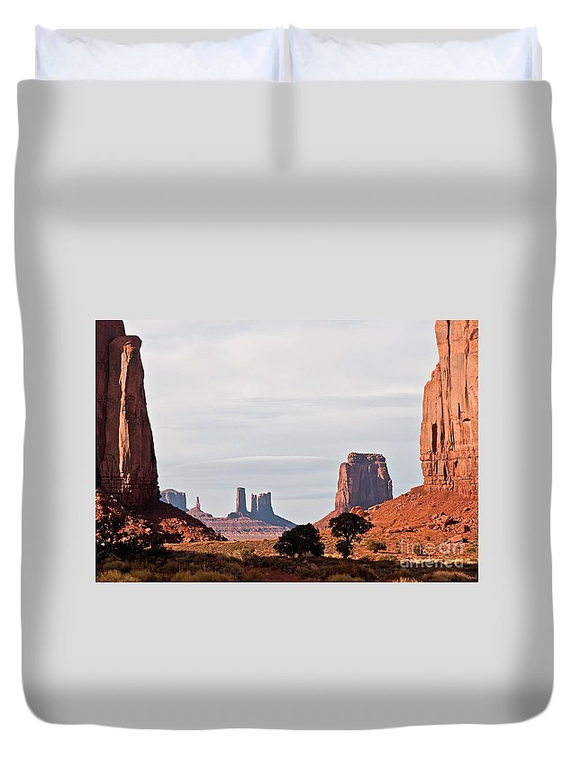 Serene Duvet Cover featuring the photograph North Window by Jim Chamberlain