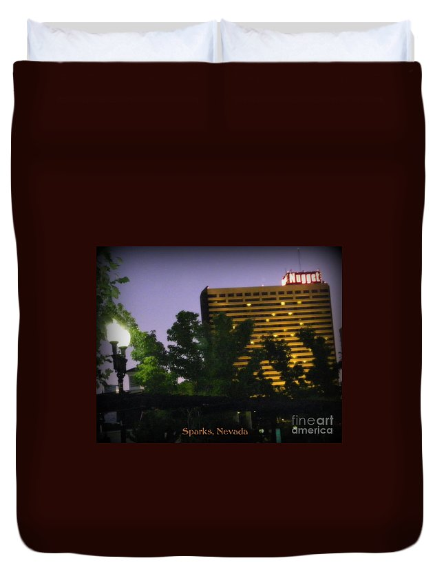 John Ascuagas Nugget Sparks Duvet Cover featuring the photograph Northern Nevada by Bobbee Rickard