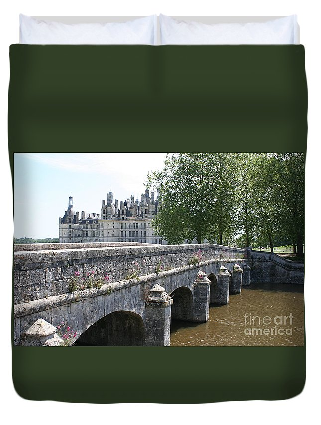 Palace Duvet Cover featuring the photograph Northwest Facade Of The Chateau De Chambord by Christiane Schulze Art And Photography