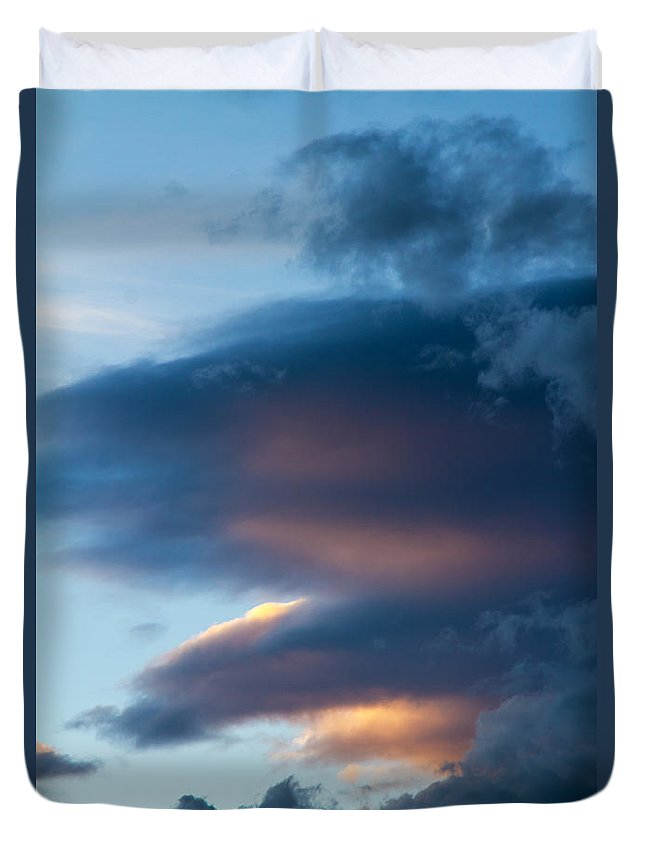 Sky Duvet Cover featuring the photograph November Clouds 001 by Agustin Uzarraga