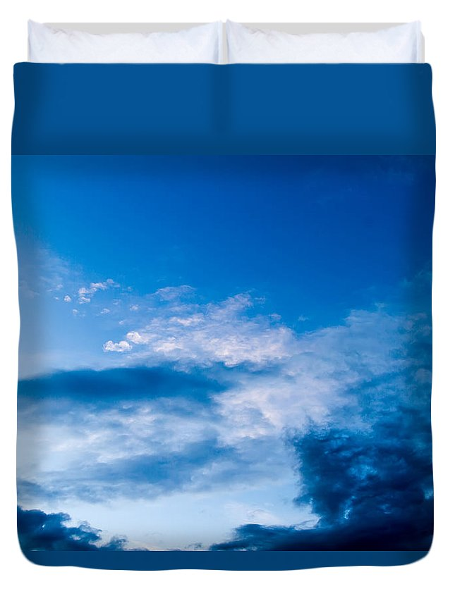 Sky Duvet Cover featuring the photograph November Clouds 002 by Agustin Uzarraga
