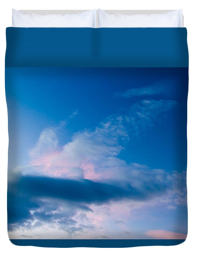 Sky Duvet Cover featuring the photograph November Clouds 005 by Agustin Uzarraga