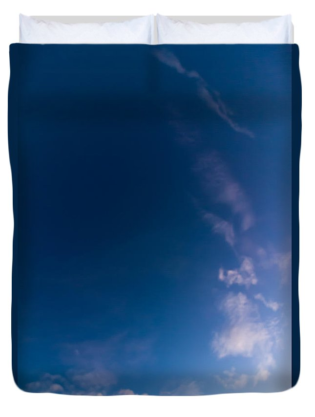 Sky Duvet Cover featuring the photograph November Clouds 009 by Agustin Uzarraga