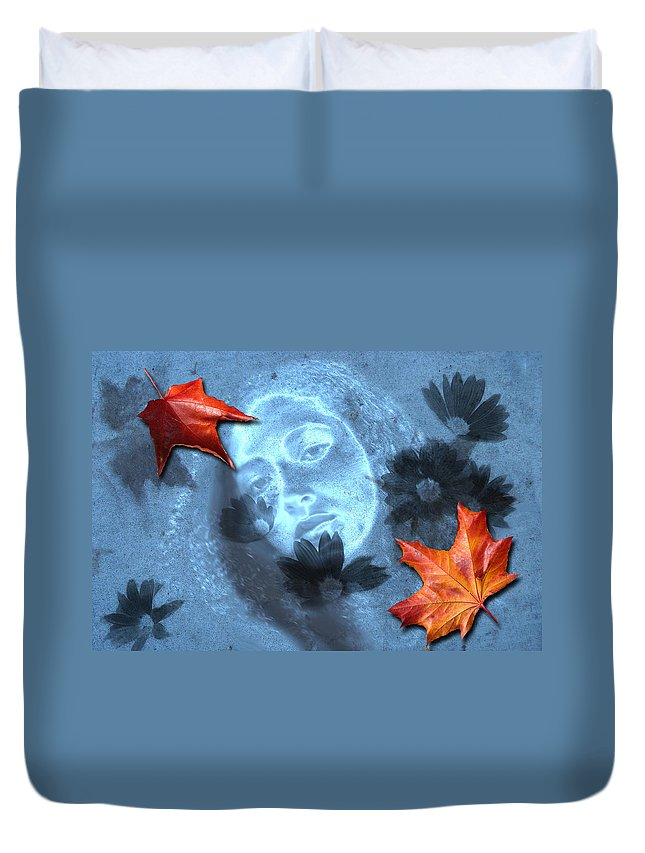 Autumn Duvet Cover featuring the digital art November by Lisa Yount