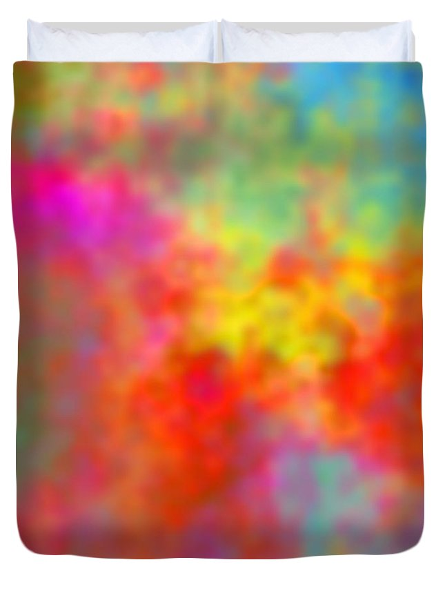 Digital Clouds Duvet Cover featuring the digital art November Smile by Christy Leigh