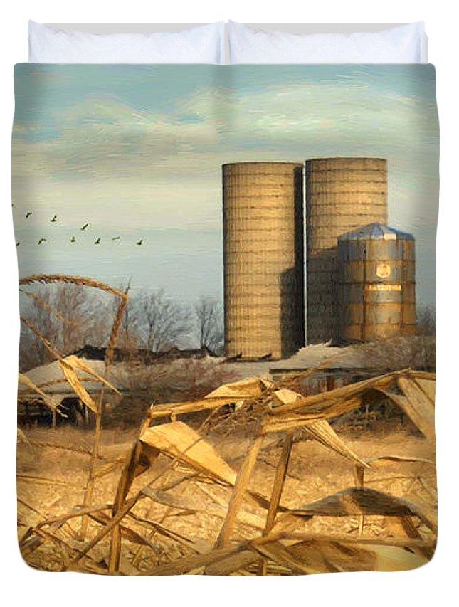 November Winds Duvet Cover featuring the digital art November Winds by Doug Kreuger