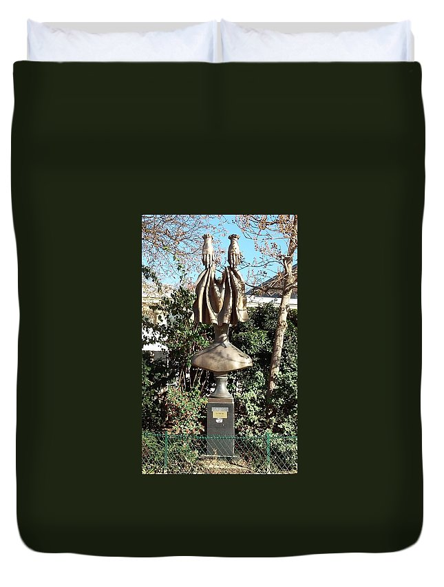 Paris Duvet Cover featuring the photograph Now You See It And Now You Dont by Richard Rosenshein