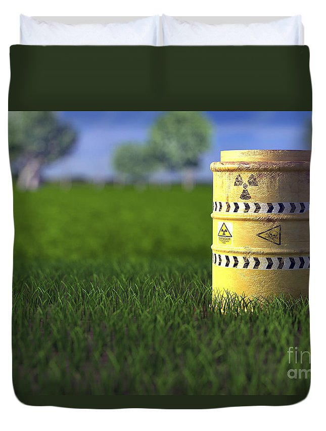 Barrel Duvet Cover featuring the photograph Nuclear Waste by Science Picture Co