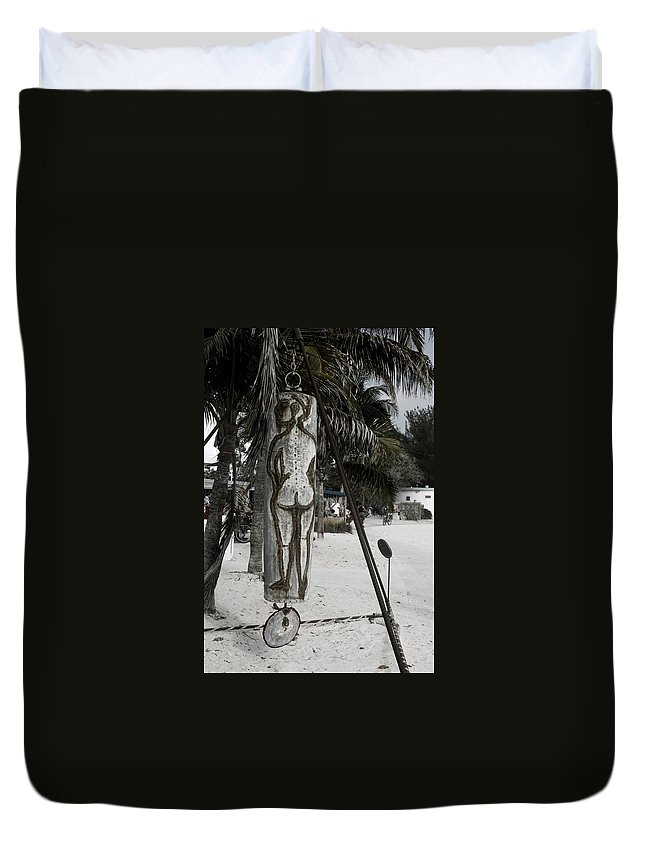 Black And White Duvet Cover featuring the photograph Nude Beach by Kathleen Odenthal