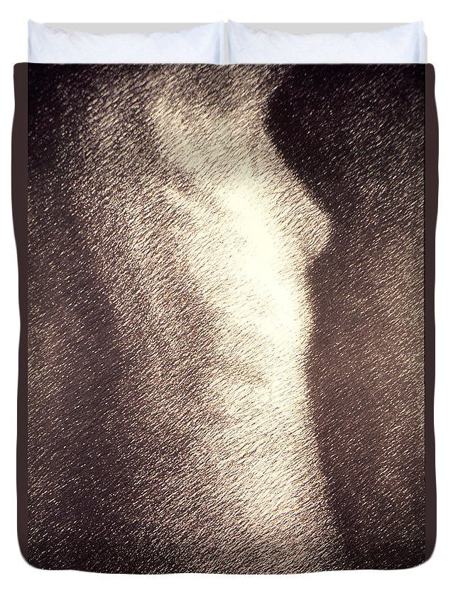Sketches Duvet Cover featuring the drawing Nude Female Torso Drawings 4 by Gordon Punt