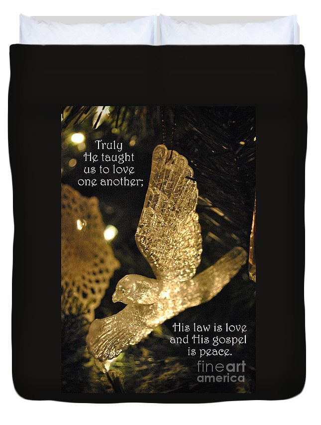 Christmas Duvet Cover featuring the photograph O Holy Night by Charlotte Stevenson