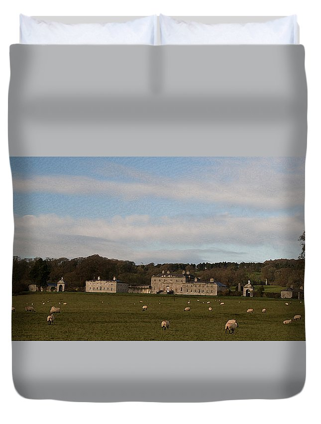 O So Peaceful Duvet Cover featuring the photograph 'o So Peaceful' by Dave Byrne