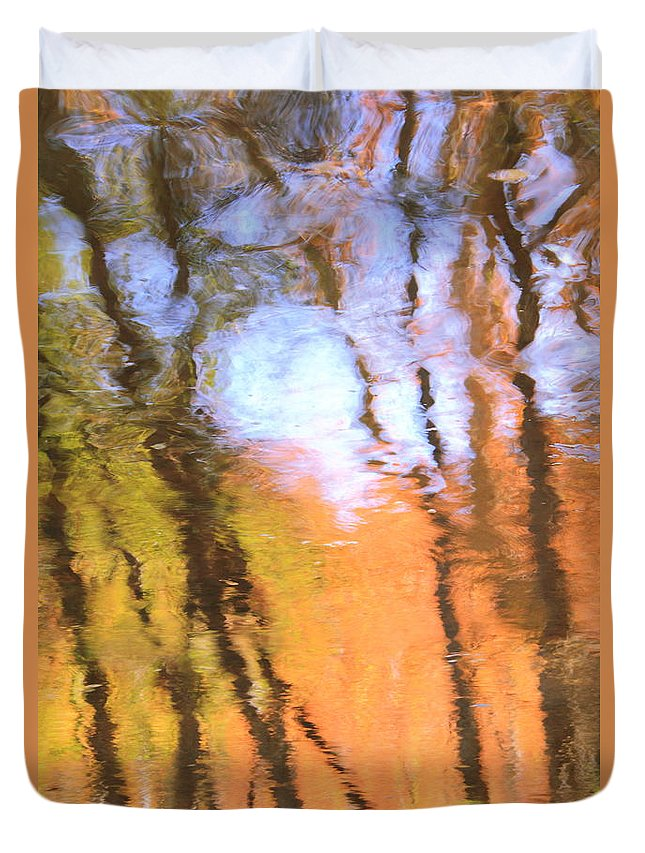 Landscape Duvet Cover featuring the photograph Oak Creek Reflections by Roupen Baker