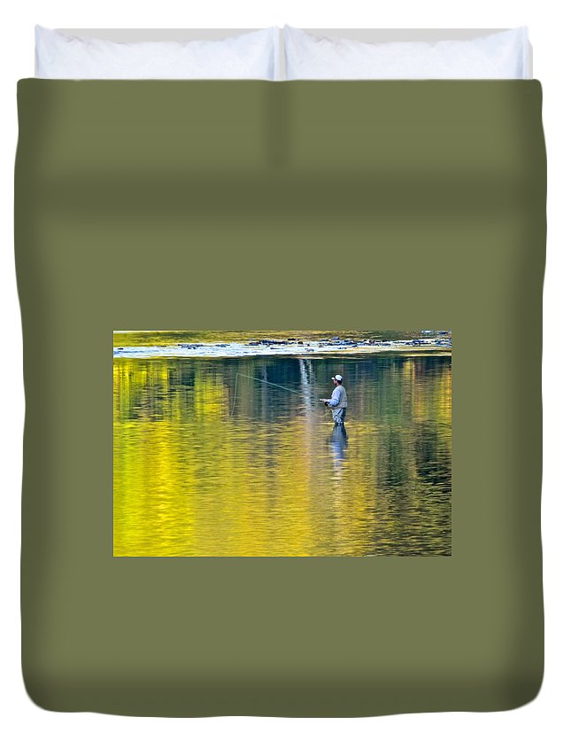 Oasis Duvet Cover featuring the photograph Oasis by Frozen in Time Fine Art Photography