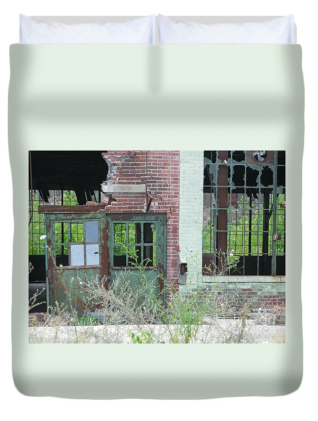 Factory Duvet Cover featuring the photograph Obsolete by Ann Horn