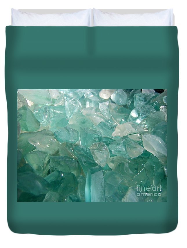 Ocean Sea Glass Teal Light Duvet Cover featuring the photograph Ocean Dream by Kristine Nora