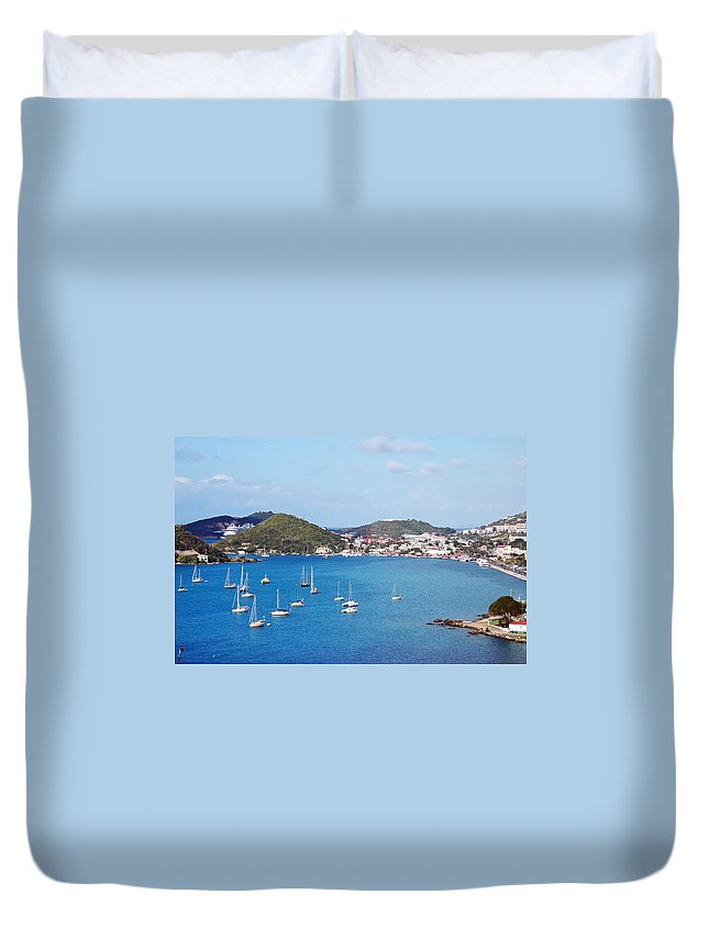 St Thomas Duvet Cover featuring the photograph Ocean View by Aimee L Maher ALM GALLERY