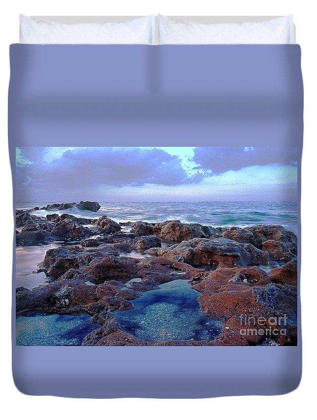 Ocean Duvet Cover featuring the photograph Ocean View II by Bruce Bain