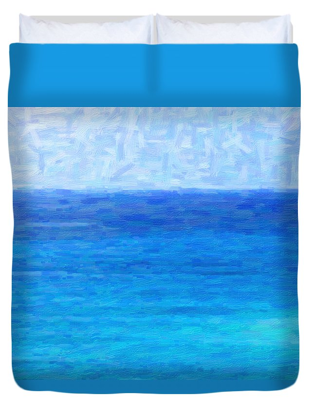 Kenny Francis Duvet Cover featuring the photograph Ocean View by Kenny Francis