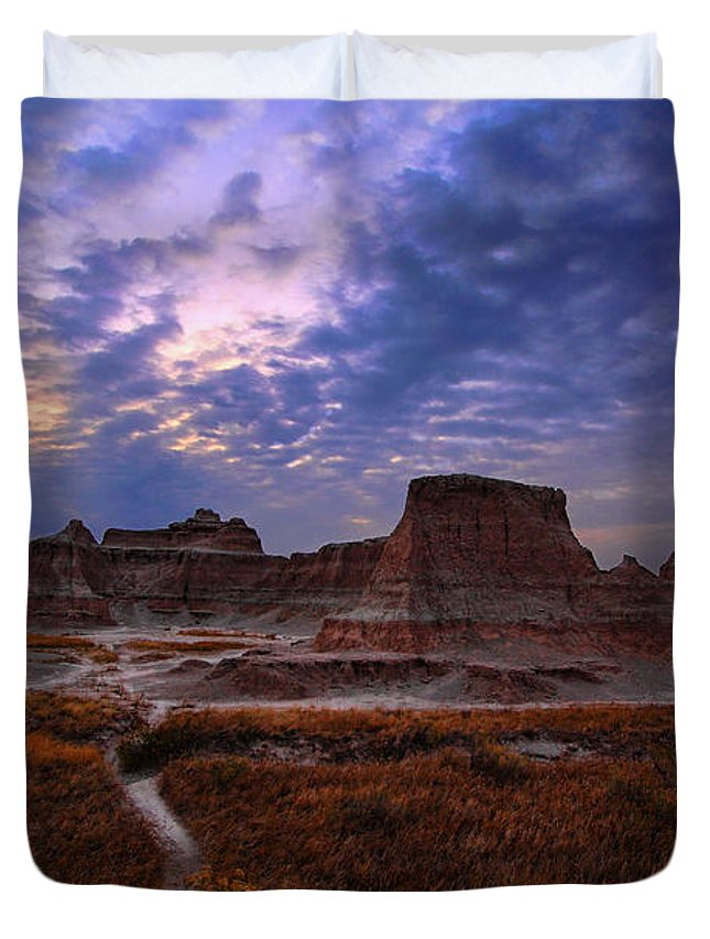 Nature Duvet Cover featuring the photograph October Morning by Deborah Johnson