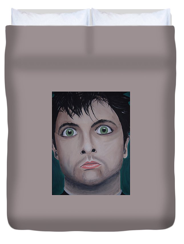 Rockumentory Duvet Cover featuring the painting Ode To Billie Joe by Dean Stephens