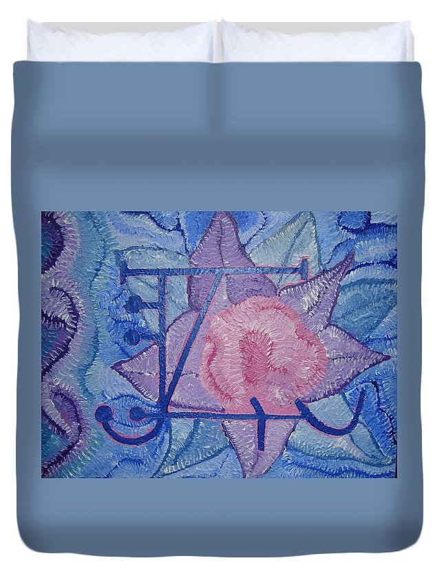Spiritual Duvet Cover featuring the painting Odin's Illusionary Rune by Joanna Pilatowicz