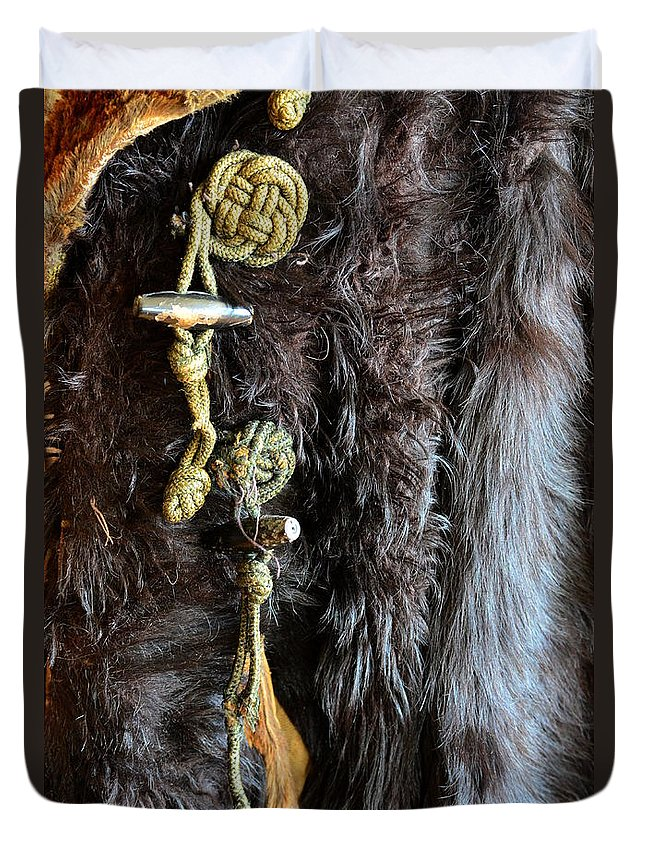 Newel Hunter Duvet Cover featuring the photograph Of Fur And Rope by Newel Hunter