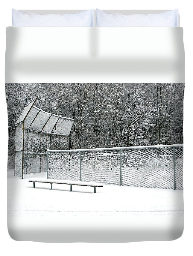 Winter Duvet Cover featuring the photograph Off Season by Ann Horn