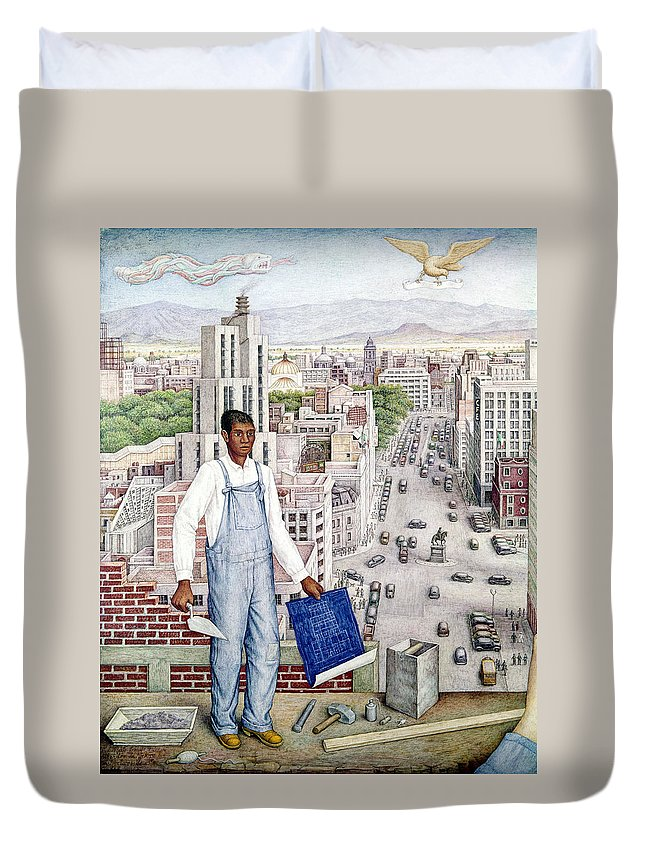 1949 Duvet Cover featuring the photograph Ogorman: City Of Mexico by Granger