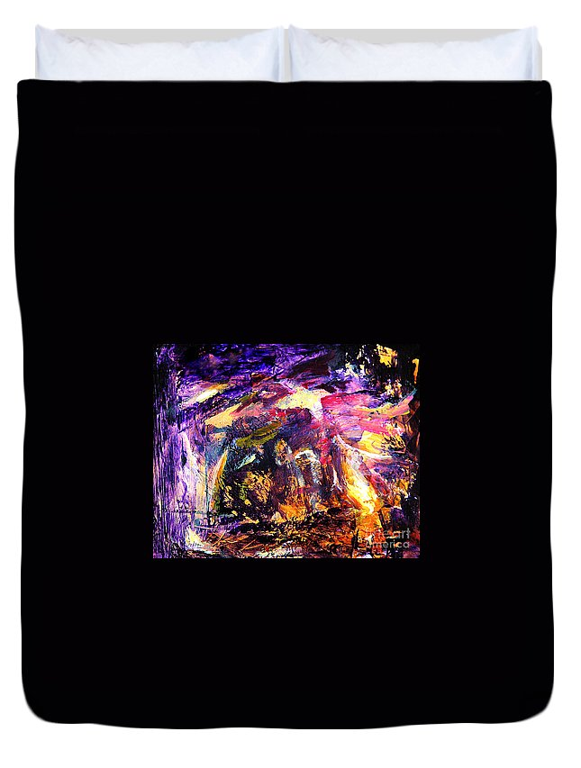 Abstract Duvet Cover featuring the painting Oh Holy Night by Julianne Felton