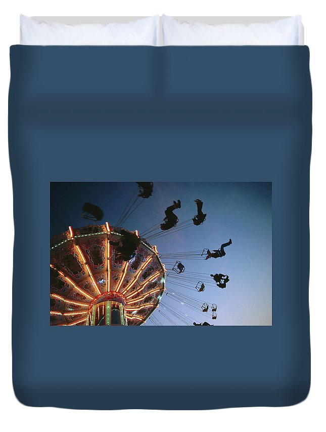 Event Duvet Cover featuring the photograph Oktoberfest Style Event In September by Thomas Winz