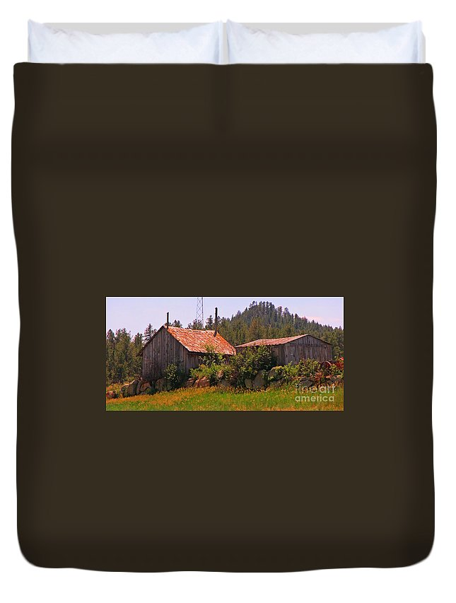 Old And Abandoned In The Country Duvet Cover featuring the photograph Old And Abandoned In The Country by John Malone