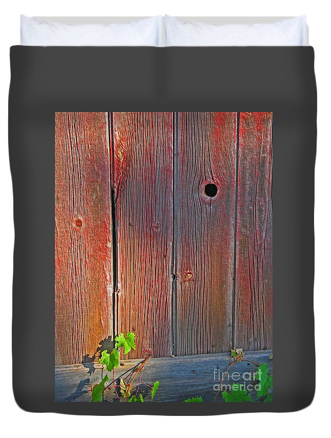 Barn Duvet Cover featuring the photograph Old Barn Wood by Ann Horn