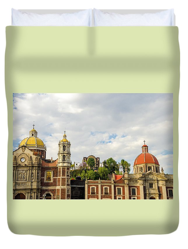 Mexico Duvet Cover featuring the photograph Old Basilica Of Guadalupe by Jess Kraft
