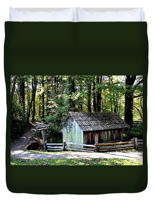 #mabrys Duvet Cover featuring the photograph Old Building by Kathleen Struckle
